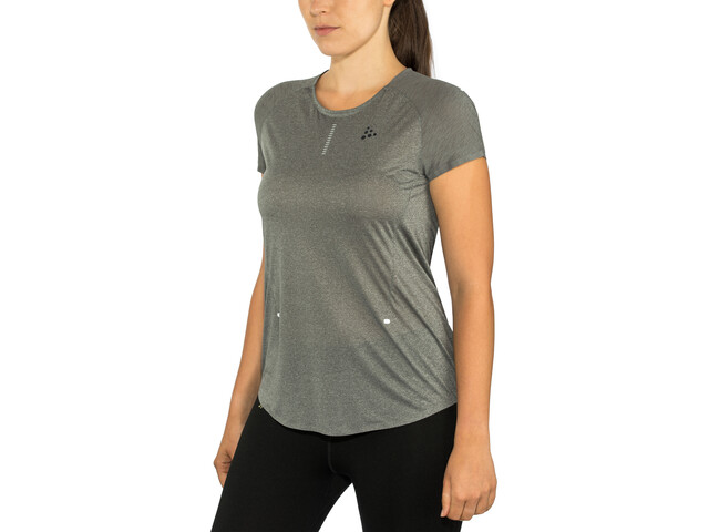 Craft Nanoweight T-shirt Dames, dark grey melange